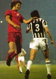 Duel aérien lors d'Ajax - Juventus