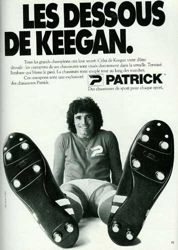 Kevin Keegan pose pour Patrick